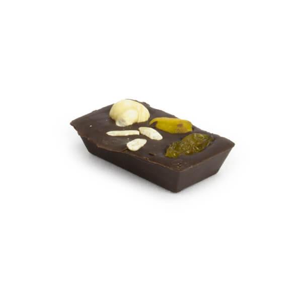 Cioccolatino fondente e frutta secca